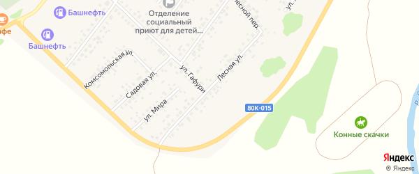 Лесная улица на карте села Бакалы с номерами домов