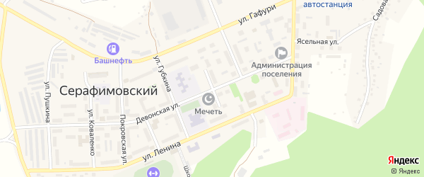 Кольцевой проезд на карте села Серафимовский с номерами домов