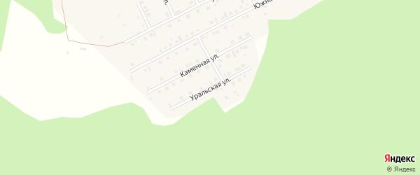 Уральская улица на карте села Серафимовский с номерами домов