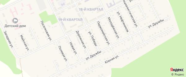 Улица Победы на карте села Серафимовский с номерами домов