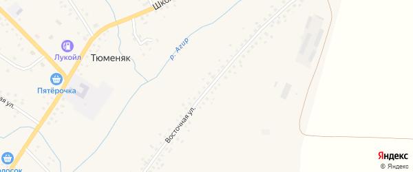 Лесная улица на карте села Тюменяка с номерами домов