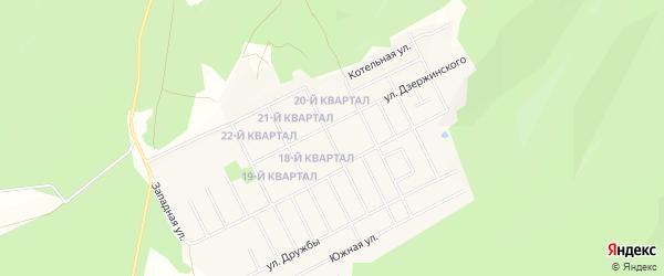 Карта села Серафимовский в Башкортостане с улицами и номерами домов