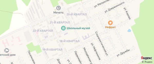 Горный переулок на карте села Серафимовский с номерами домов