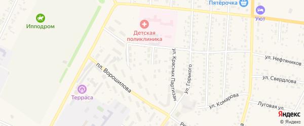 Улица Аксакова на карте села Бакалы с номерами домов