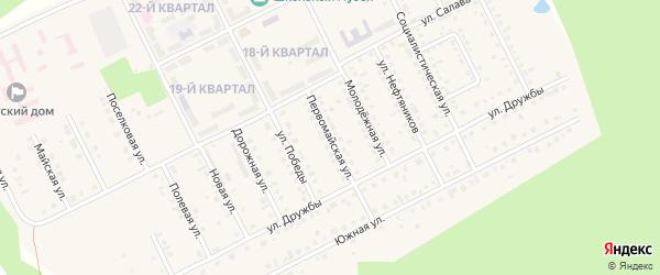 Первомайская улица на карте села Серафимовский с номерами домов