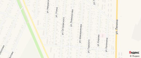 Улица Ломоносова на карте села Бакалы с номерами домов