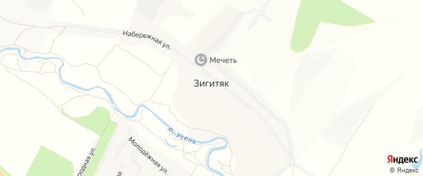 Карта села Зигитяка в Башкортостане с улицами и номерами домов