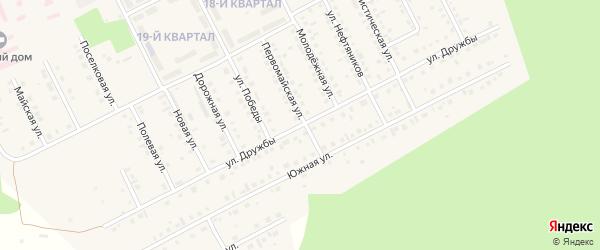Улица Дружбы на карте села Серафимовский с номерами домов