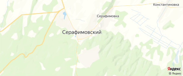 Карта Серафимовского сельсовета республики Башкортостан с районами, улицами и номерами домов