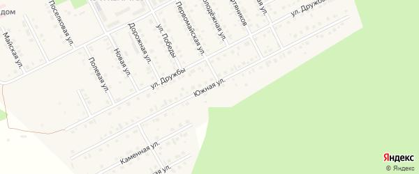 Южная улица на карте села Серафимовский с номерами домов