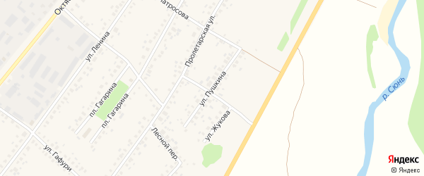 Улица Пушкина на карте села Бакалы с номерами домов
