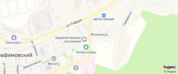 Улица Свердлова на карте села Серафимовский с номерами домов
