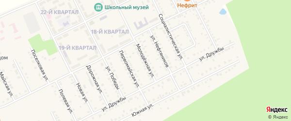 Молодежная улица на карте села Серафимовский с номерами домов