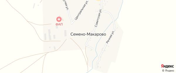 Советская улица на карте села Семено-Макарово с номерами домов