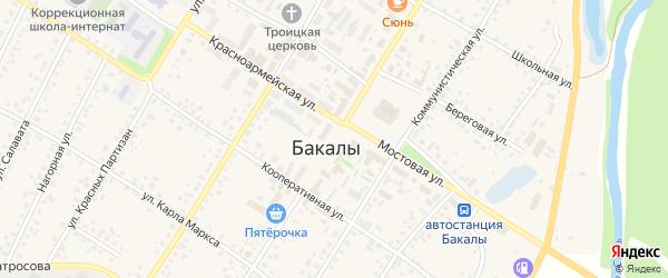 Улица Ленина на карте села Бакалы с номерами домов