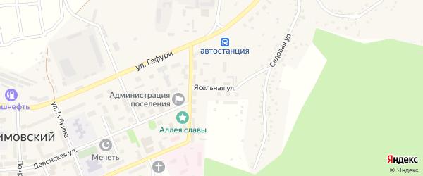 Ясельная улица на карте села Серафимовский с номерами домов