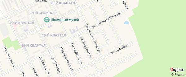Социалистическая улица на карте села Серафимовский с номерами домов