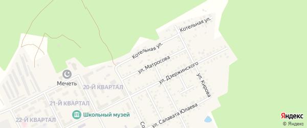 Улица Матросова на карте села Серафимовский с номерами домов