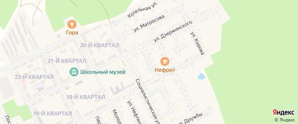 Улица Чапаева на карте села Серафимовский с номерами домов