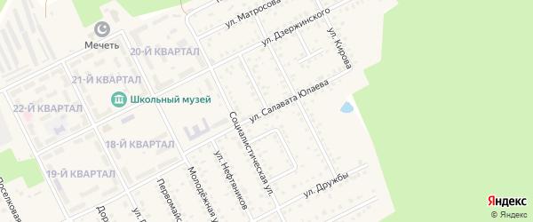 Улица Салавата Юлаева на карте села Серафимовский с номерами домов