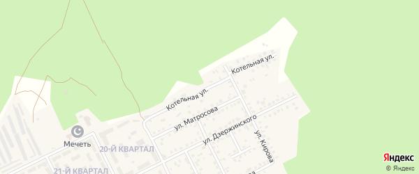 Котельная улица на карте села Серафимовский с номерами домов