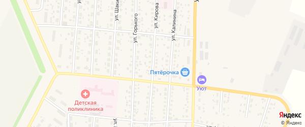 Улица Кирова на карте села Бакалы с номерами домов