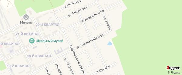 Пролетарская улица на карте села Серафимовский с номерами домов