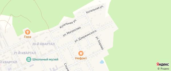 Улица Дзержинского на карте села Серафимовский с номерами домов