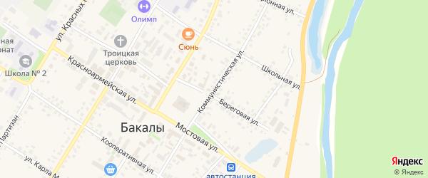 Коммунистическая улица на карте села Бакалы с номерами домов