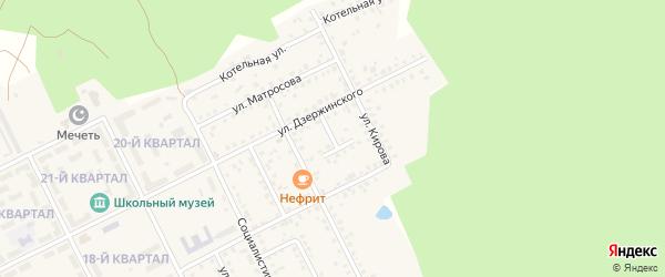 Улица Зеленый тупик на карте села Серафимовский с номерами домов