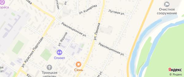 Революционная улица на карте села Бакалы с номерами домов