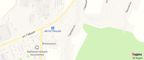 Садовая улица на карте села Серафимовский с номерами домов