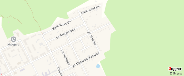 Улица Кирова на карте села Серафимовский с номерами домов
