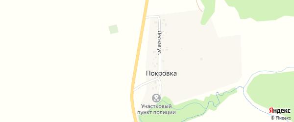 Лесная улица на карте деревни Покровки с номерами домов