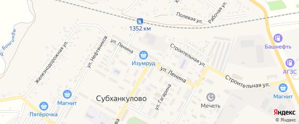 Улица Ленина на карте села Субханкулово с номерами домов