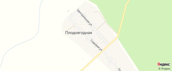 Садовая улица на карте Плодоягодной деревни с номерами домов