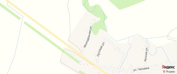 Молодежная улица на карте села Елани-Чишма с номерами домов