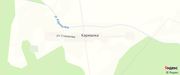 Карта деревни Кармалки в Башкортостане с улицами и номерами домов