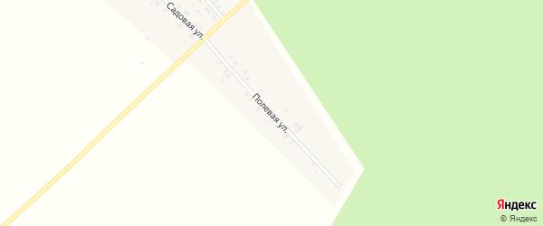 Полевая улица на карте Плодоягодной деревни с номерами домов