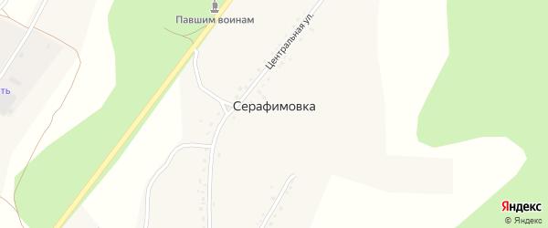 Ключевая улица на карте села Серафимовки с номерами домов