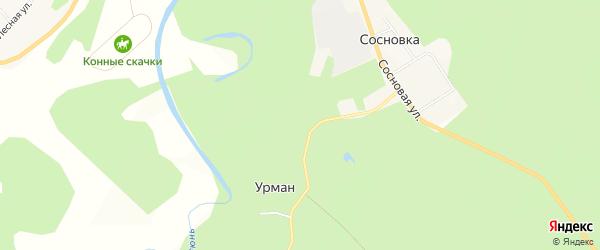 Карта поселка Аэродрома Китайки города Уфы в Башкортостане с улицами и номерами домов