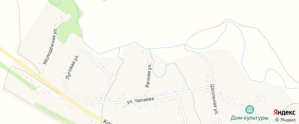 Речная улица на карте села Елани-Чишма с номерами домов