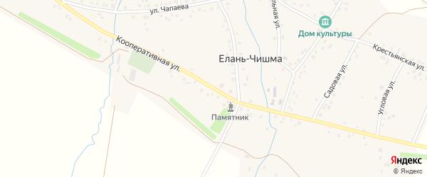 Кооперативная улица на карте села Елани-Чишма с номерами домов