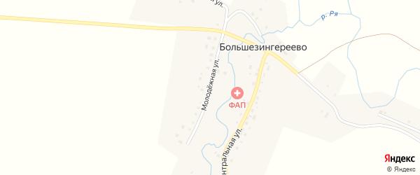 Молодежная улица на карте села Большезингереево с номерами домов