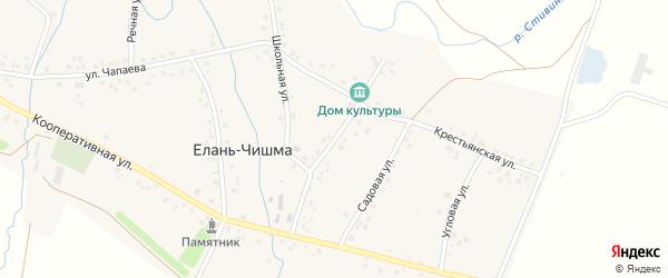 Советская улица на карте села Елани-Чишма с номерами домов