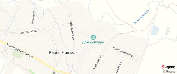 Улица Кирова на карте села Елани-Чишма с номерами домов