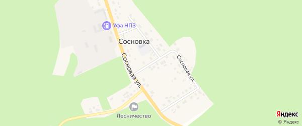 Сосновая улица на карте деревни Сосновки с номерами домов