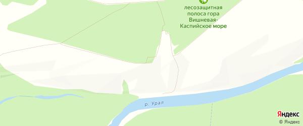 Карта микрорайона поселок им Куйбышева города Оренбурга в Оренбургской области с улицами и номерами домов
