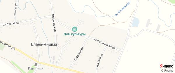 Крестьянская улица на карте села Елани-Чишма с номерами домов
