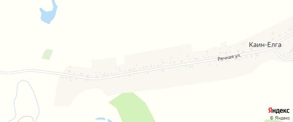Горная улица на карте деревни Каин-Елга с номерами домов
